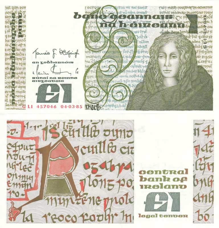 Ireland/Republic 1 Pound Banknote, 1985, P-70c