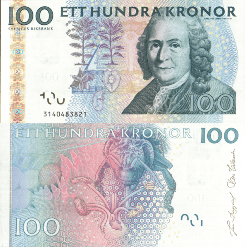 Sweden 100 Kronor Banknote, 2003, P-65b