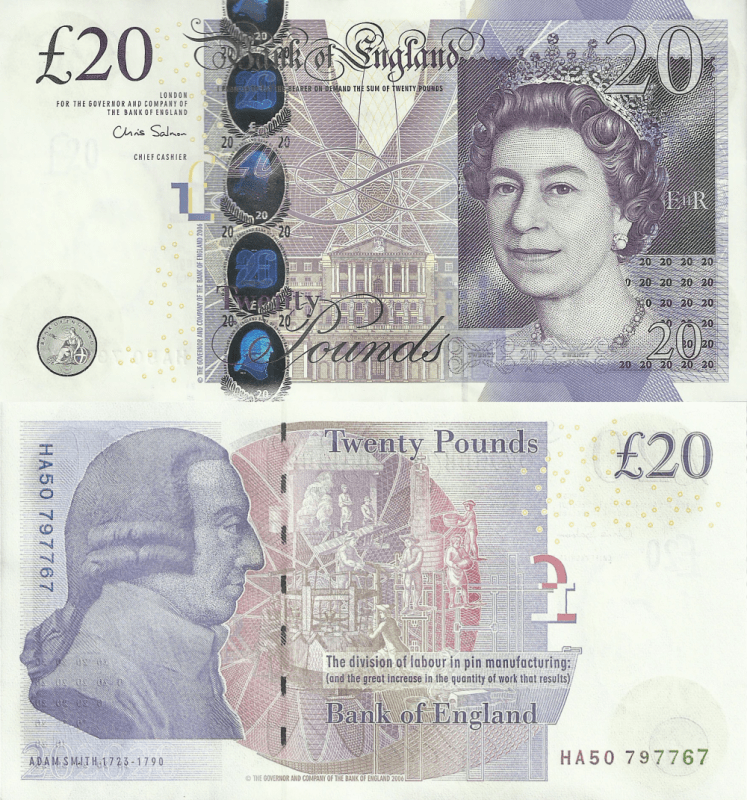 Great Britain/England 20 Pounds Banknote, 2006, P-392