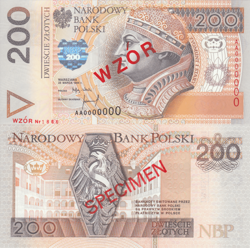Poland 500 Zlotych Banknote, 1994, P-177s