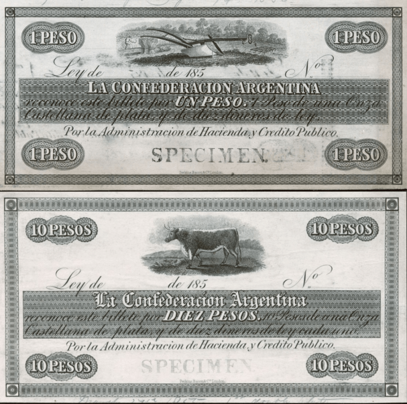 Argentina 1 Peso Banknote, ND, P-S161