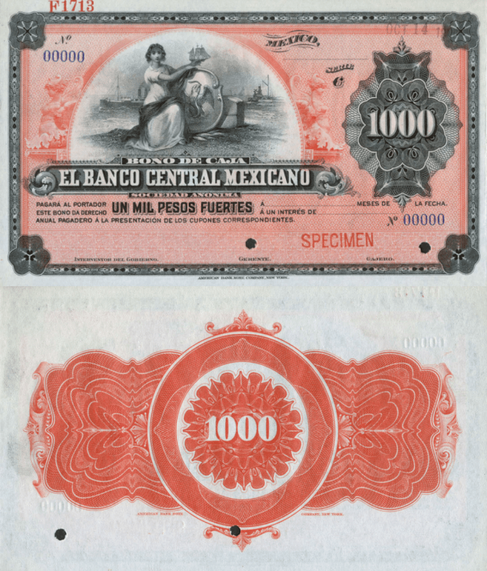 Mexico 1,000 Pesos Banknote, 1900, P-UNLISTED