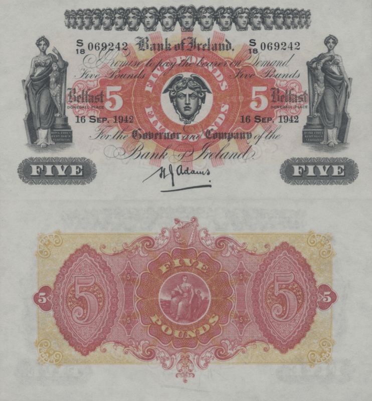 Netherlands Indies 5 Pounds Banknote, 1942, P-52c