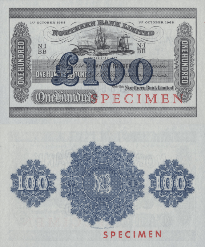 Netherlands Indies 100 Pounds Banknote, 1968, P-186s