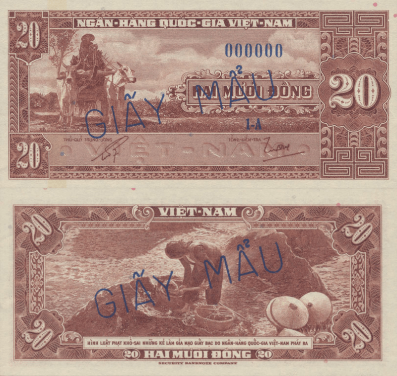 Vietnam/South 20 Dong Banknote, 1962, P-6s1