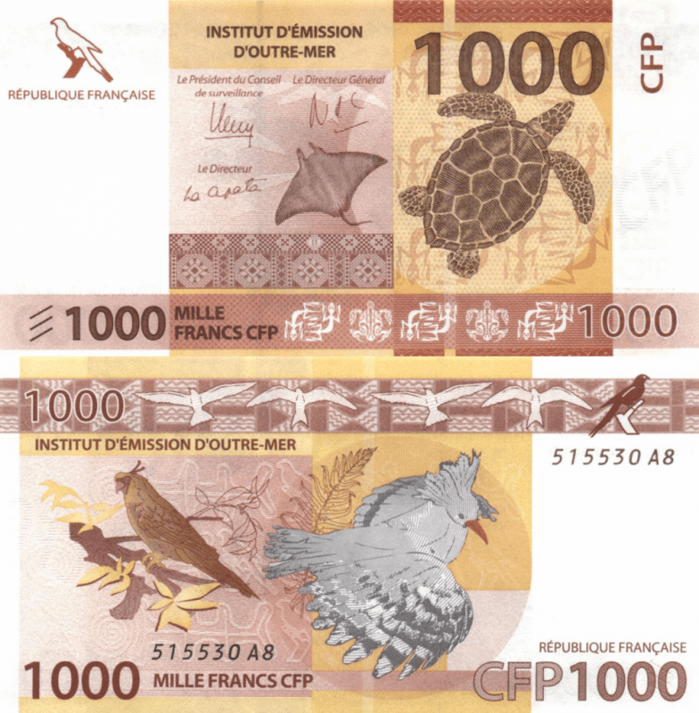 French Pacific Territories 1,000 Francs Banknote, 2014, P-6