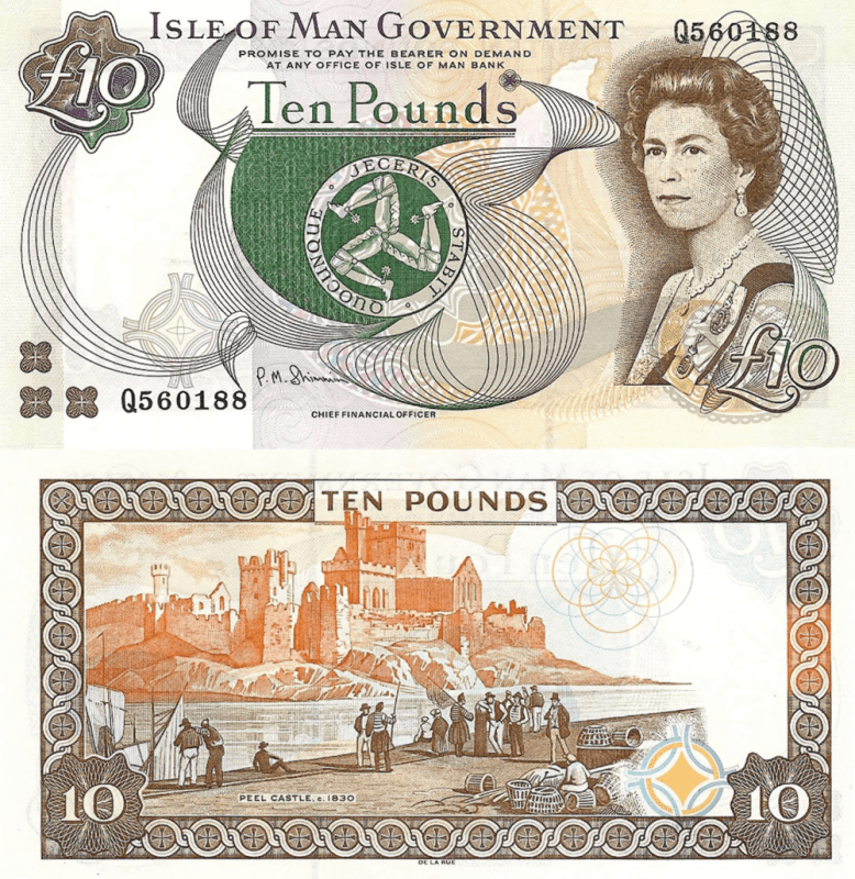 Isle of Man 10 Pounds Banknote, 2011, P-44