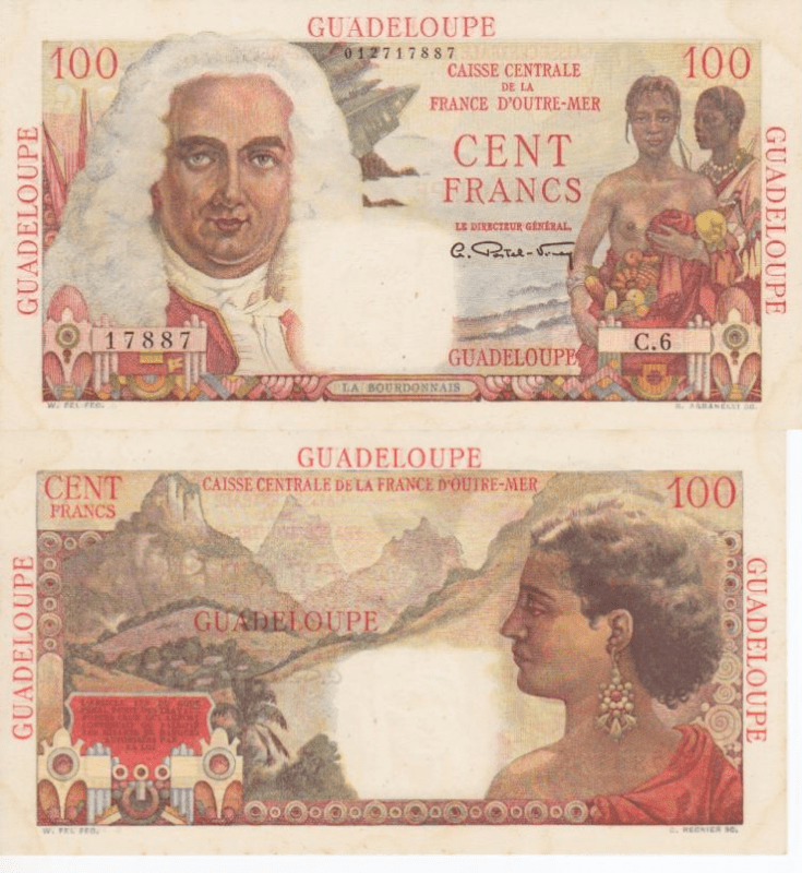 Guadeloupe 100 Francs Banknote, 1947, P-35