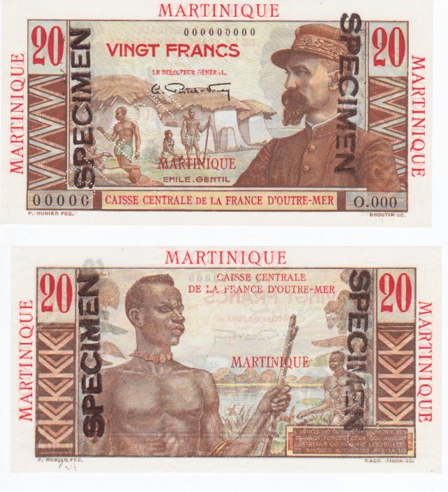 20 Francs Martinique's Banknote