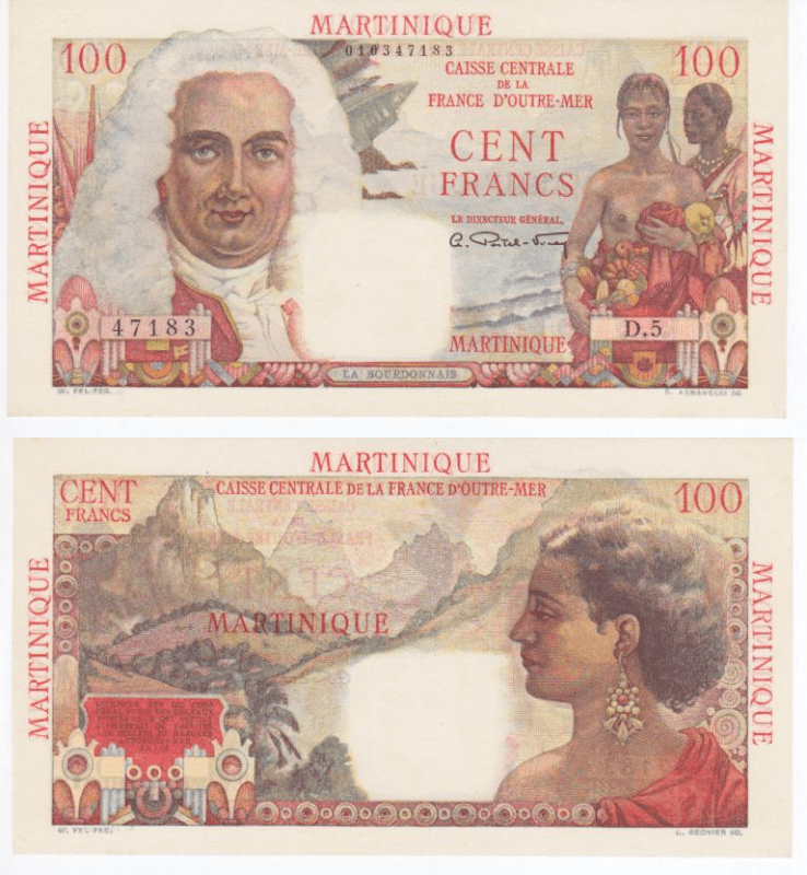 100 Francs Martinique's Banknote