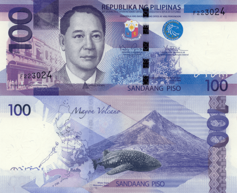 Philippines 100 Pesos Banknote, 2010, P-208a