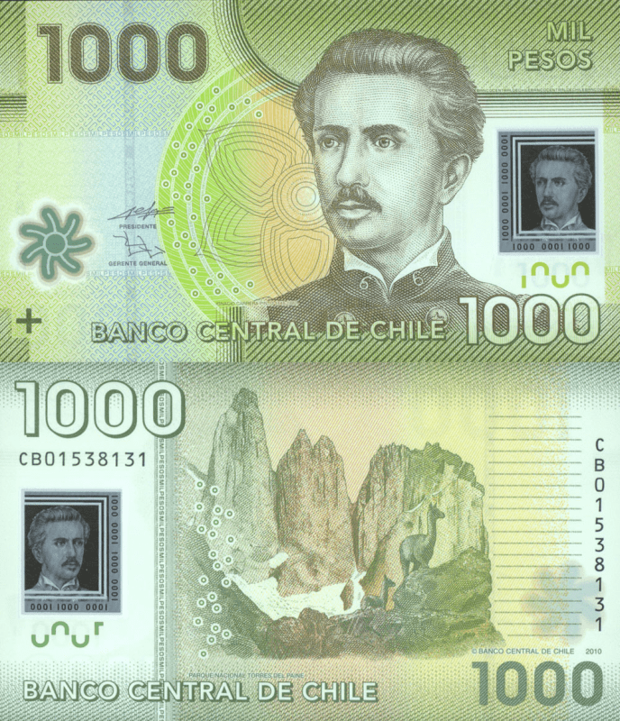 1,000 Pesos Chile's Banknote