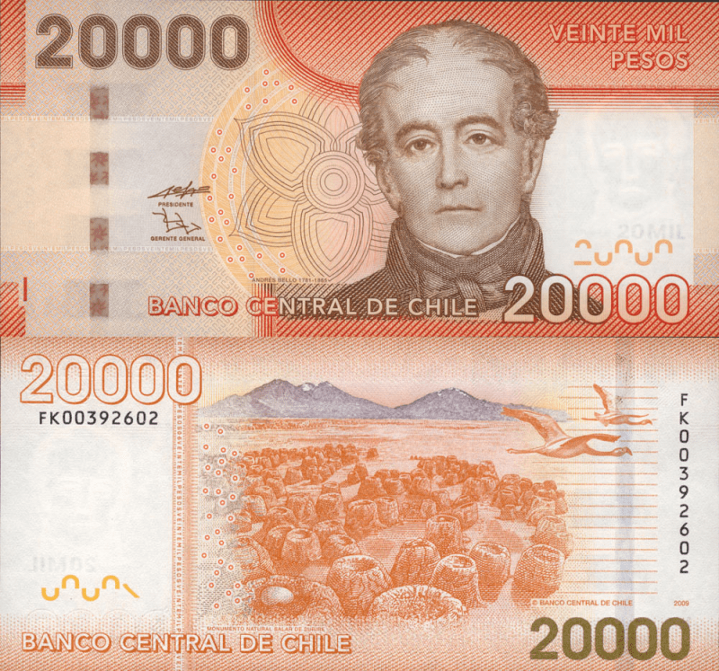 20,000 Pesos Chile's Banknote