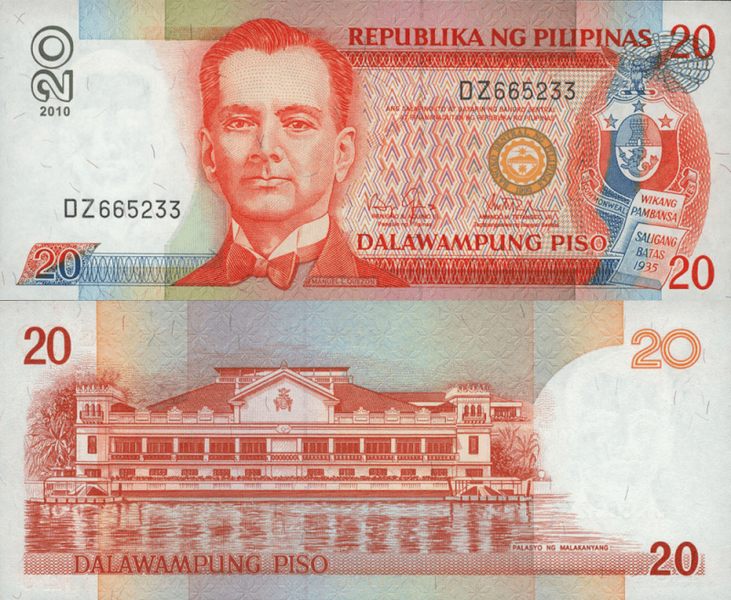 20 Pesos Philippines's Banknote