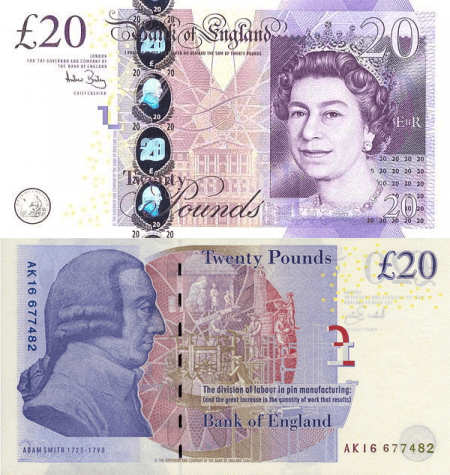 Great Britain/England 20 Pounds Banknote, 2007, P-392a