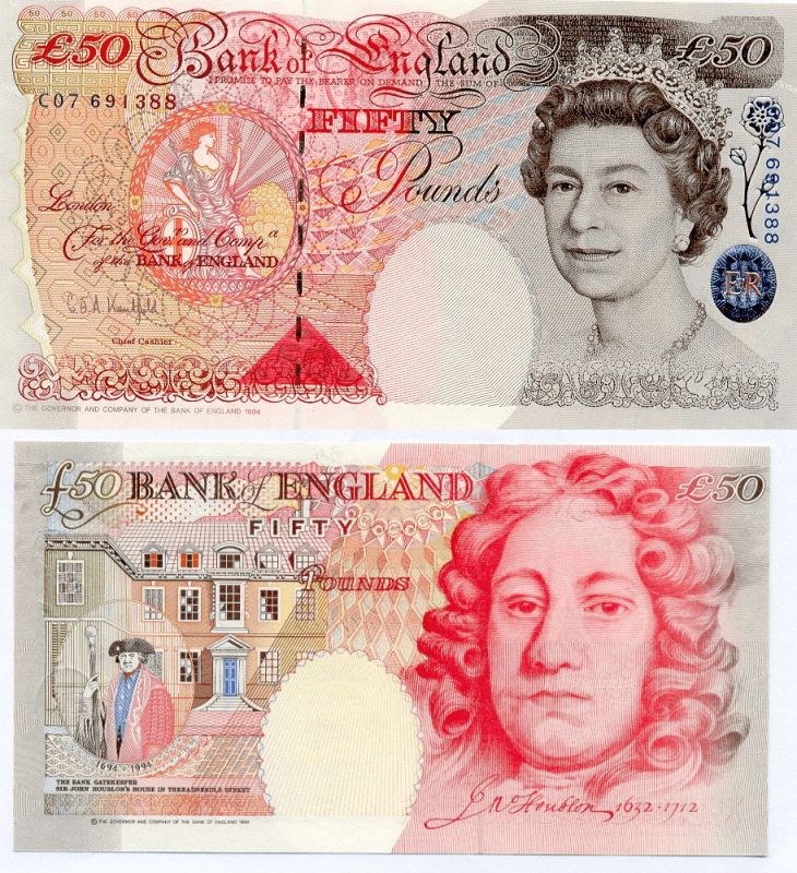 50 Pounds Great Britain/England's Banknote