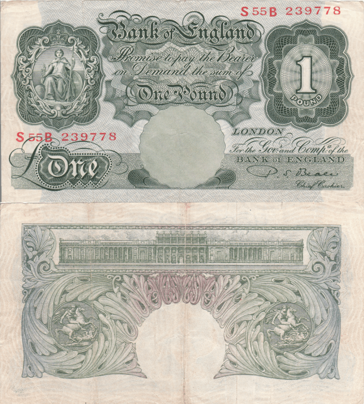 Great Britain/England 1 Pound Banknote, 1949, P-369b