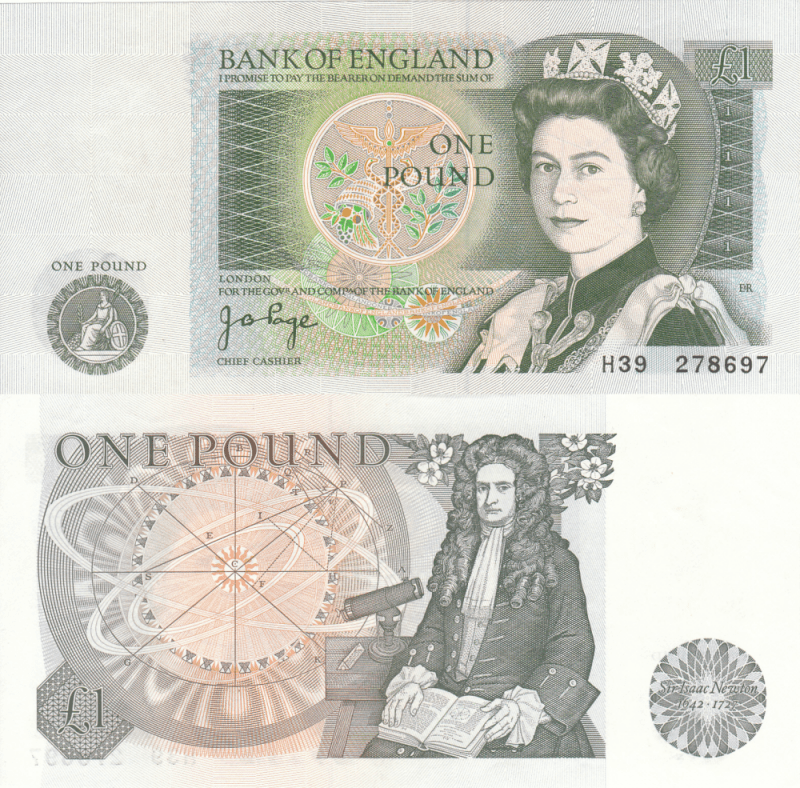 Great Britain/England 1 Pound Banknote, 1978, P-377a