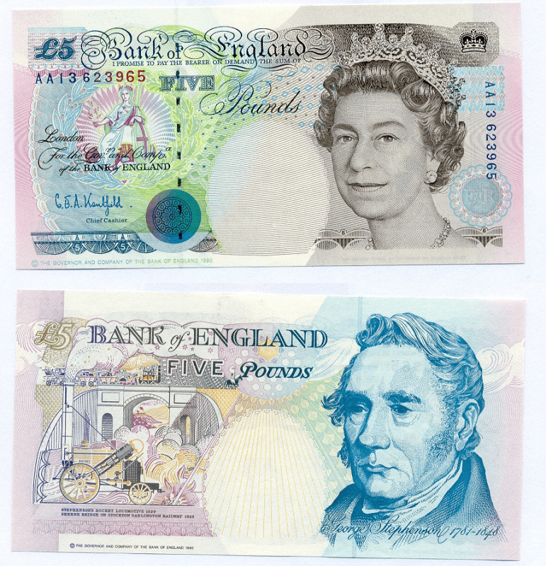 5 Pounds Great Britain/England's Banknote