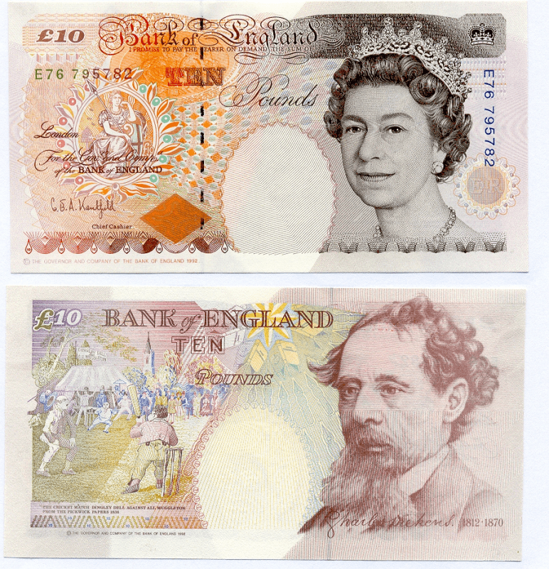 Great Britain/England 10 Pounds Banknote, 1992, P-383a
