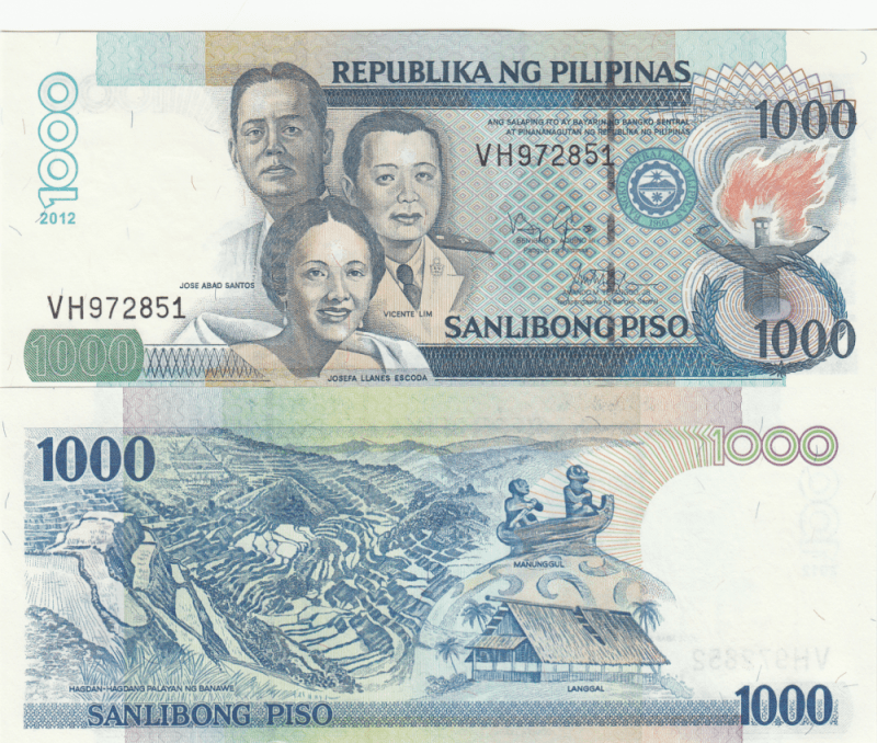 1,000 Pesos Philippines's Banknote