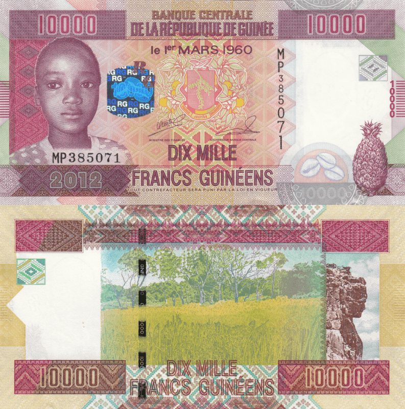 10,000 Francs Guinea's Banknote