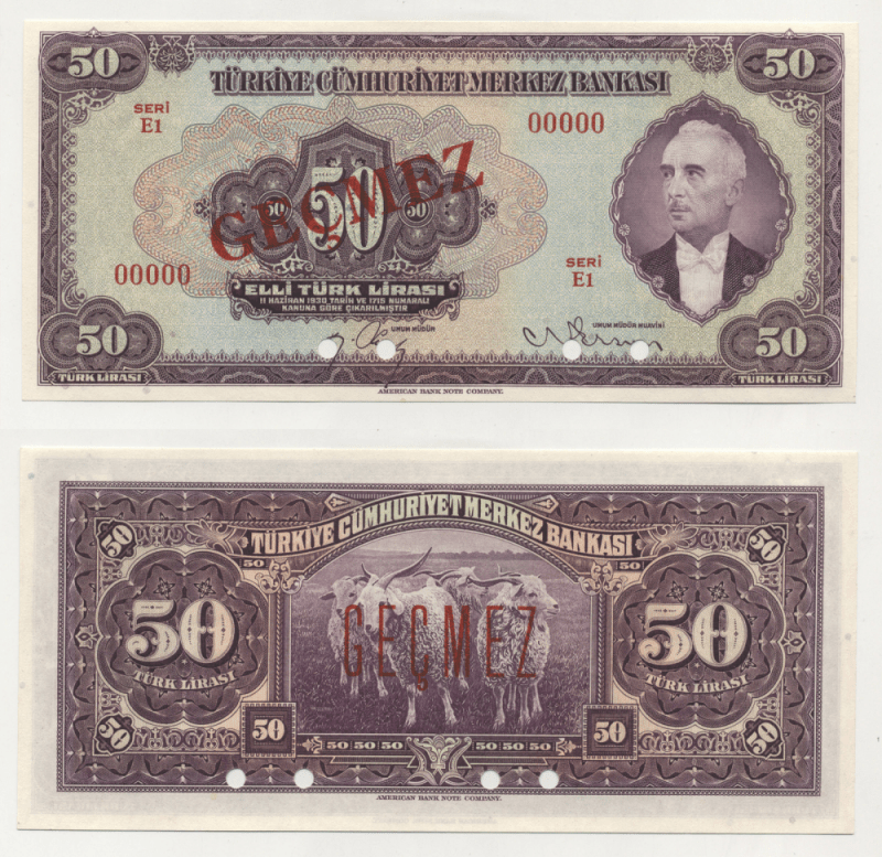 50 Lira Turkey's Banknote