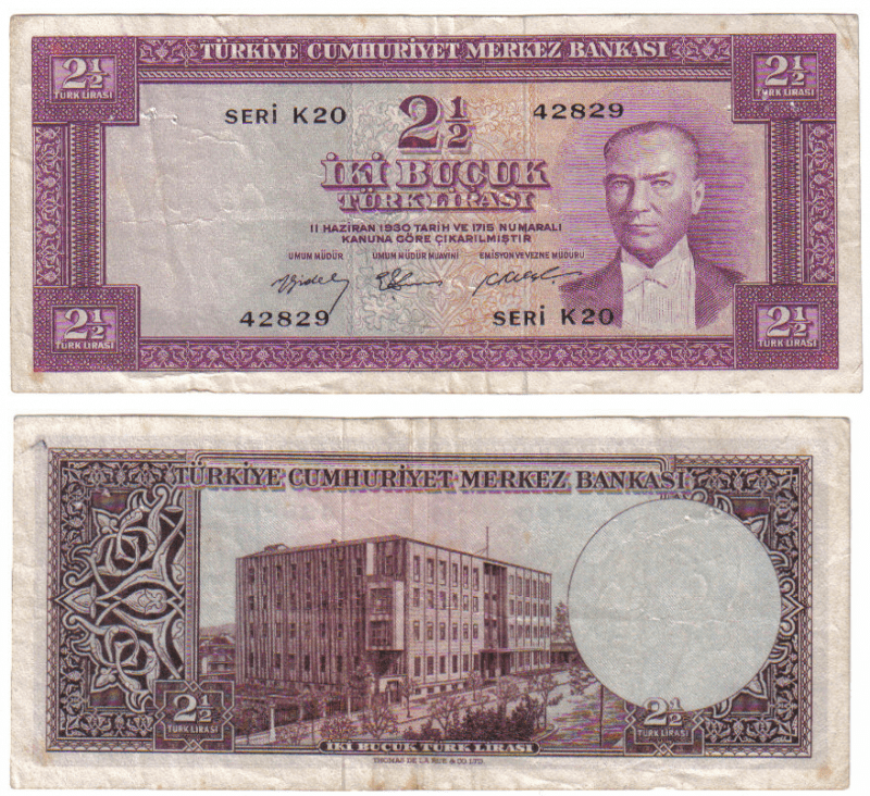 2.5 Lira Turkey's Banknote