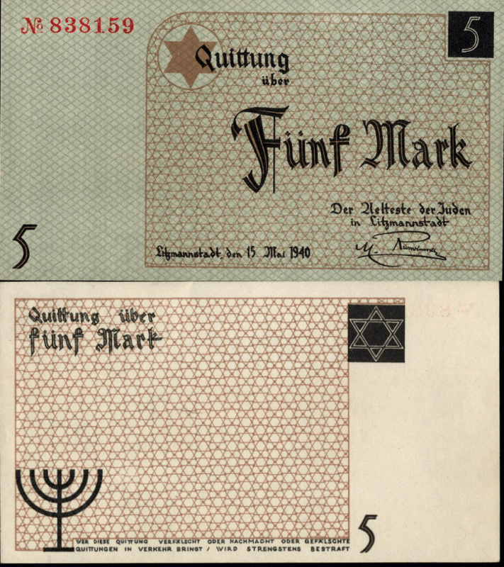 5 Mark Litzmannstadt Labor Camp, Pola's Banknote