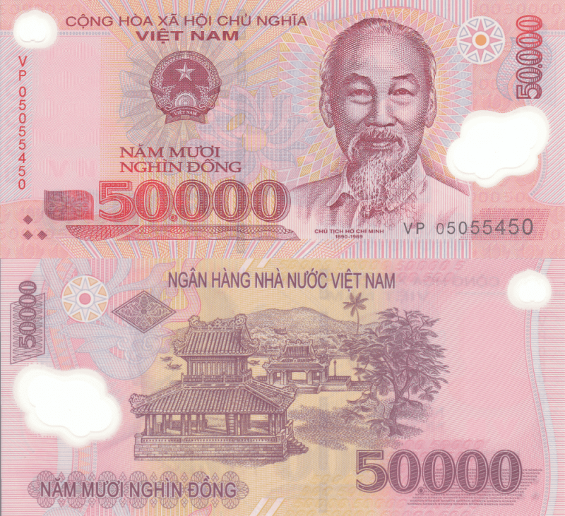Vietnam 50,000 Dong Banknote, 2006, P-121d