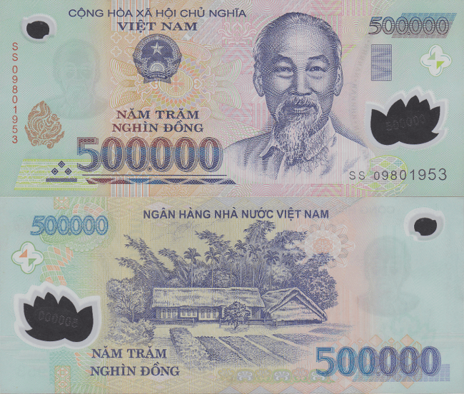 Vietnam 500,000 Dong Banknote, 2009, P-124f