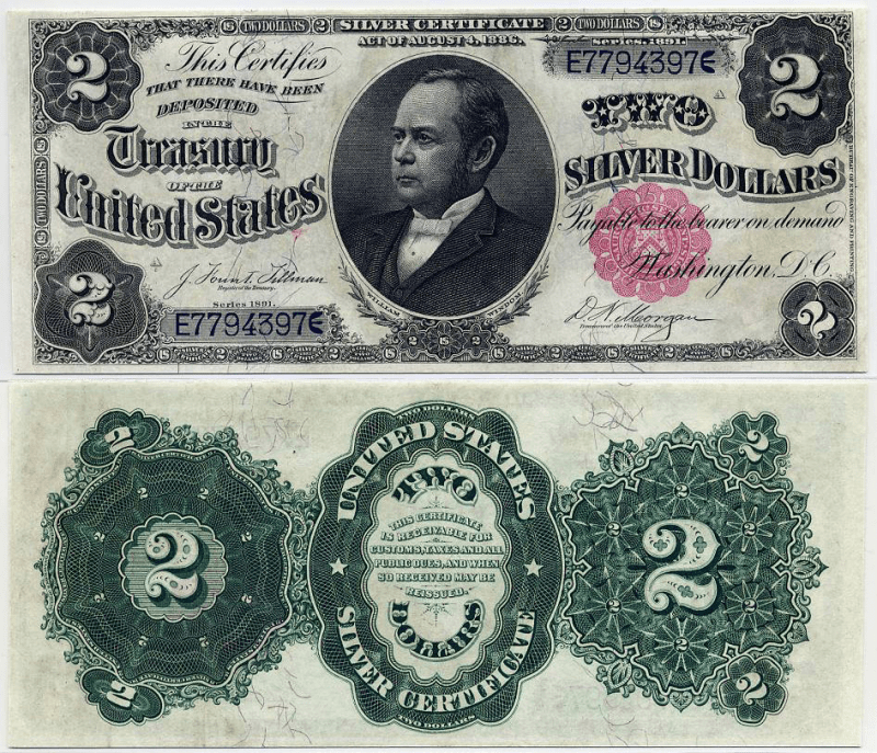United States 2 Dollars Banknote, 1891, P-327