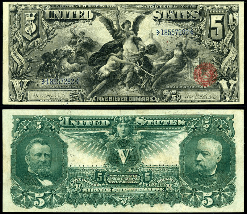United States 5 Dollars Banknote, 1896, P-337