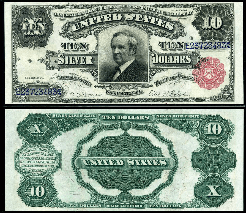 United States 10 Dollars Banknote, 1891, P-329