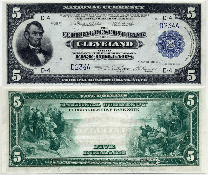 United States 5 Dollars Banknote, 1918, P-785