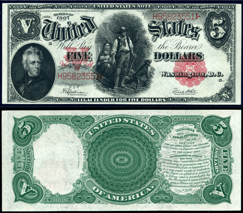 5 Dollars United States's Banknote