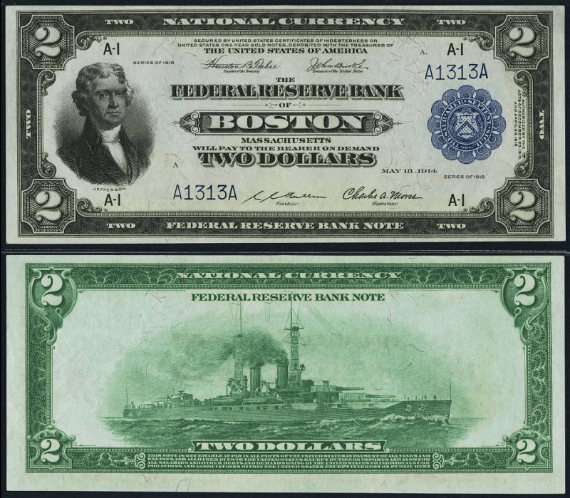 2 Dollars United States's Banknote