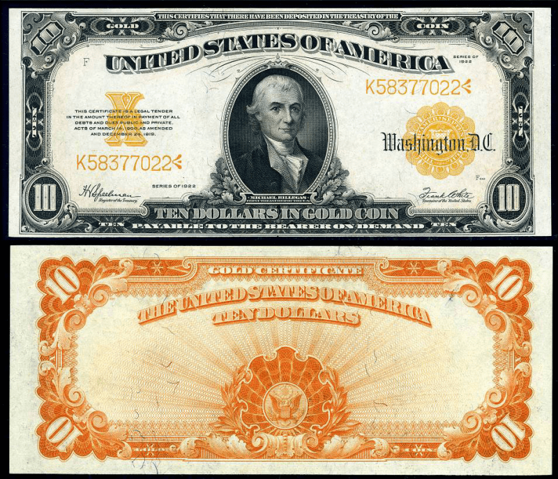 United States 10 Dollars Banknote, 1922, P-274