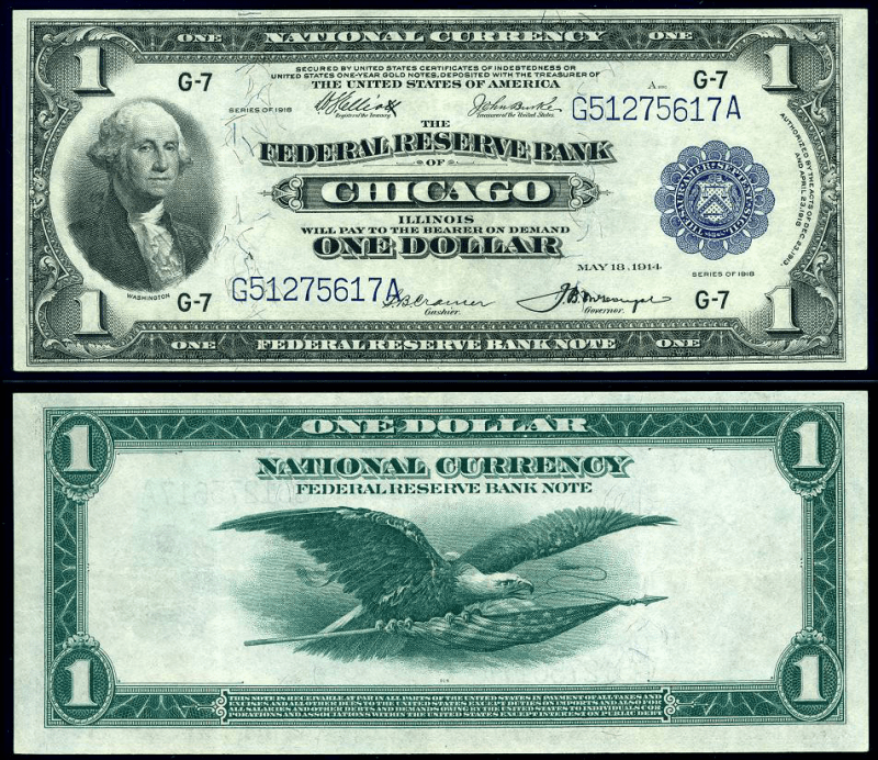 United States 1 Dollar Banknote, 1918, P-729