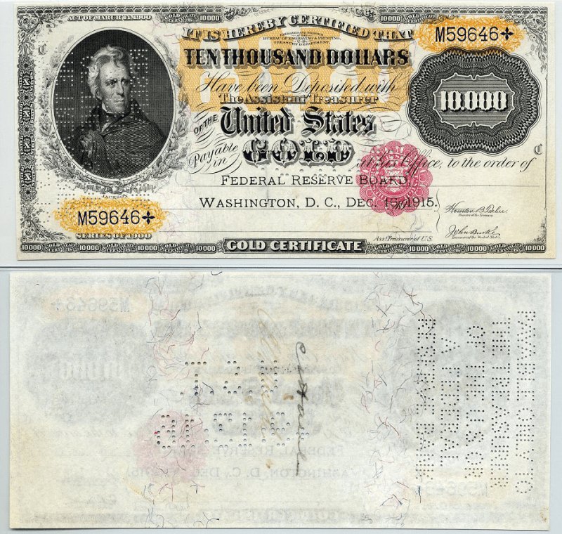 United States 10,000 Dollars Banknote, 1900, P-268b