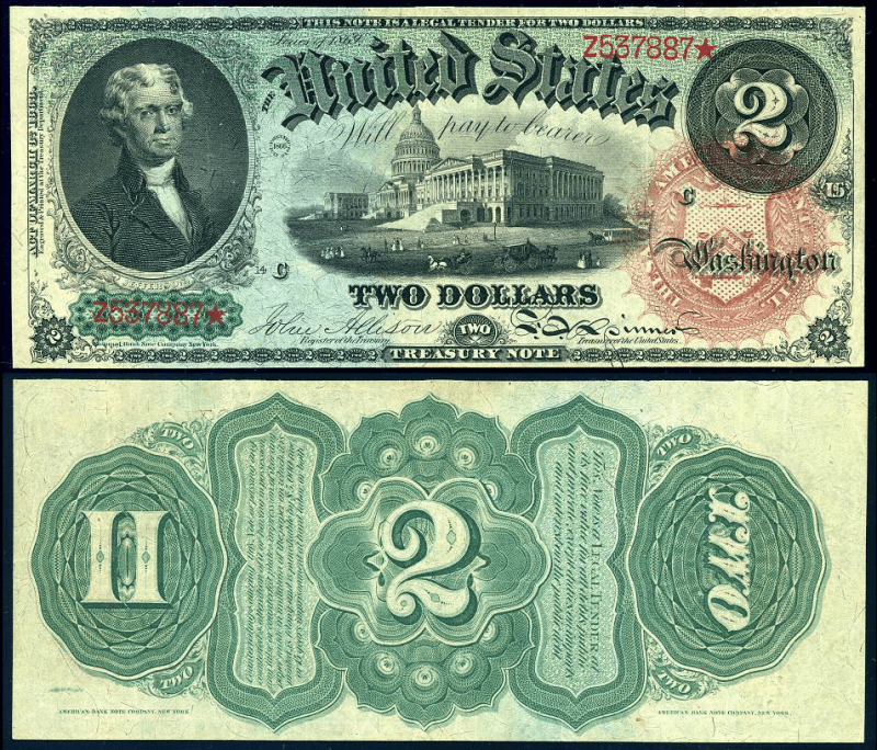 United States 2 Dollars Banknote, 1869, P-145
