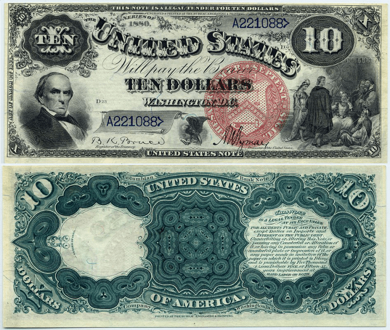 United States 10 Dollars Banknote, 1880, P-179b