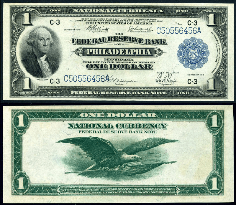 United States 1 Dollar Banknote, 1918, P-717