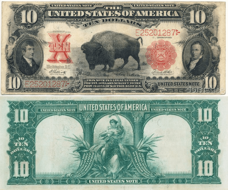 United States 10 Dollars Banknote, 1901, P-185
