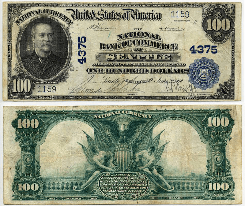 United States 100 Dollars Banknote, 1902, P-680