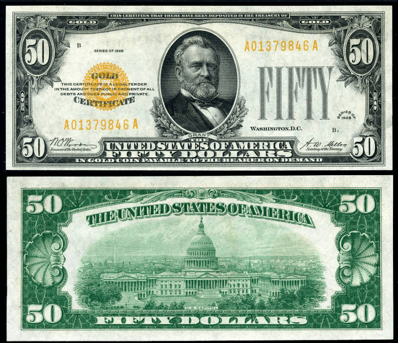 United States 50 Dollars Banknote, 1928, P-402