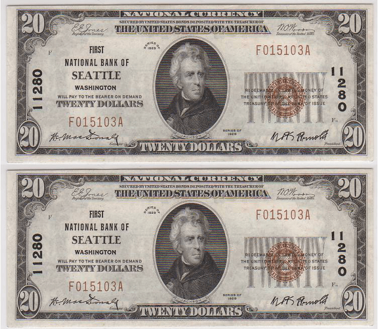 United States 20 Dollars Banknote, 1929, P-1802