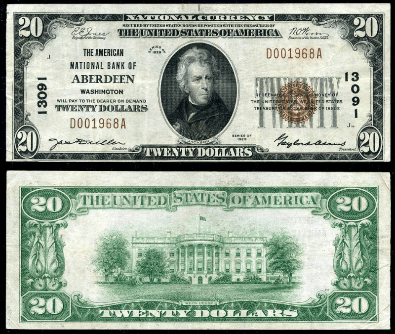 20 Dollars United States's Banknote
