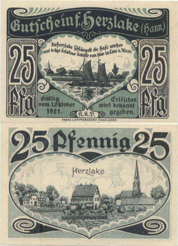 Germany/Notgeld 25 Pfennig Banknote, 1921, P-UNLISTED