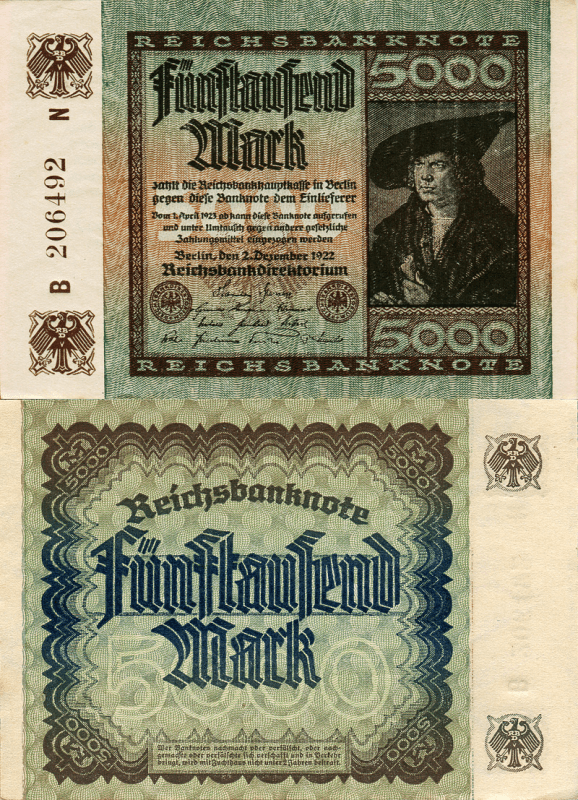 Germany 5,000 Mark Banknote, 1922, P-81